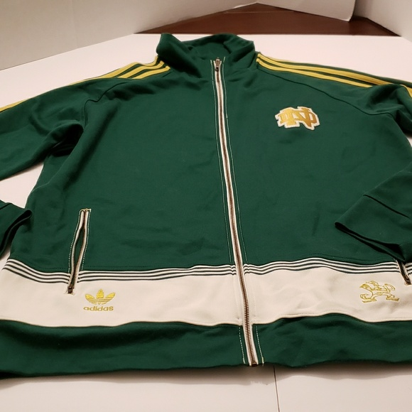 537e9fd8614f adidas Other - Notre Dame Adidas Vintage Mens Track Jacket 2XL